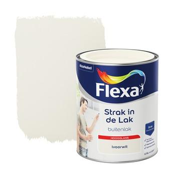 Flexa Strak in de lak voor buiten ivoorwit hoogglans 750 ml