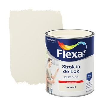 Flexa Strak in de lak voor buiten roomwit hoogglans 750 ml