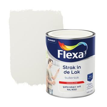 Flexa Strak in de lak voor buiten gebroken wit hoogglans 750 ml