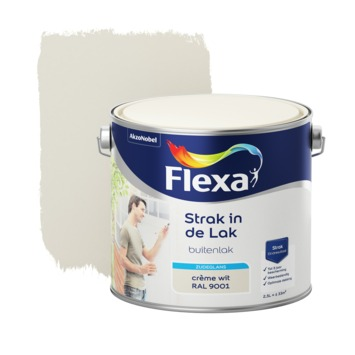 Flexa Strak in de lak lakverf zijdeglans ral 9001 2,5 l