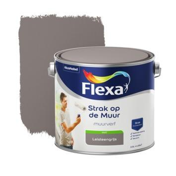 Flexa Strak op de muur leisteengrijs mat 2,5 liter
