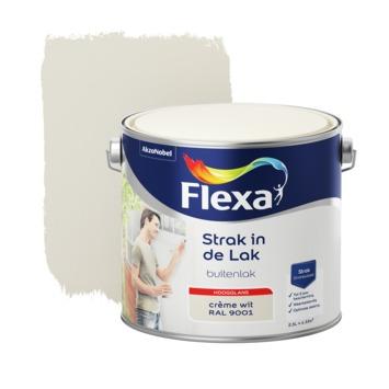 Flexa Strak in de lak voor buiten ral 9001 crèmewit hoogglans 2,5 liter