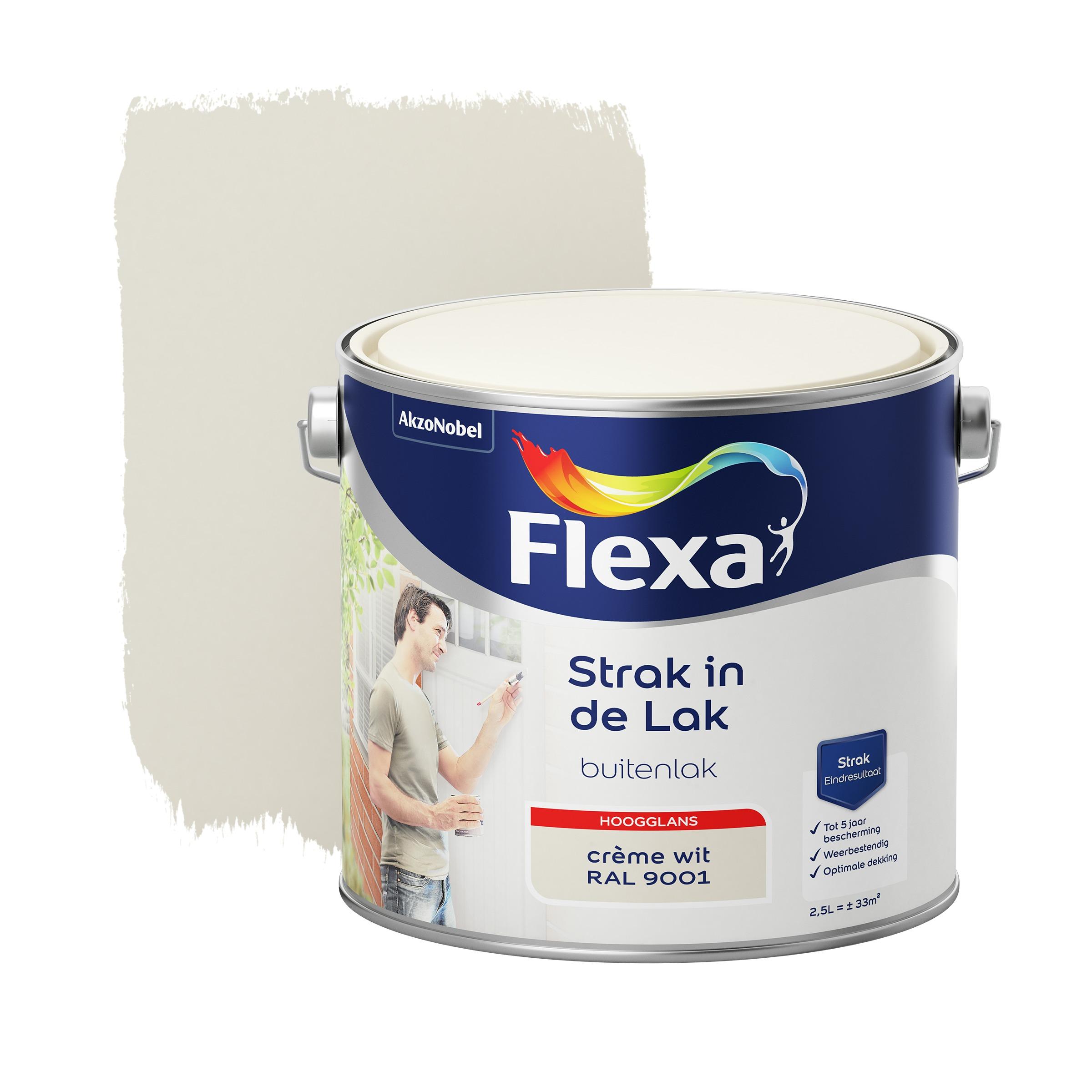 Flexa Strak In De Lak Hoogglans Crème Wit Ral 9001 2,5L