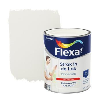 Flexa Strak in de lak voor binnen ral 9010 gebroken wit hoogglans 750 ml