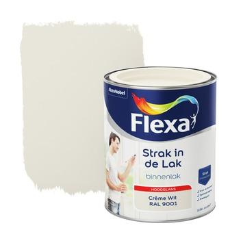 Flexa Strak in de lak voor binnen ral 9001 crèmewit hoogglans 750 ml