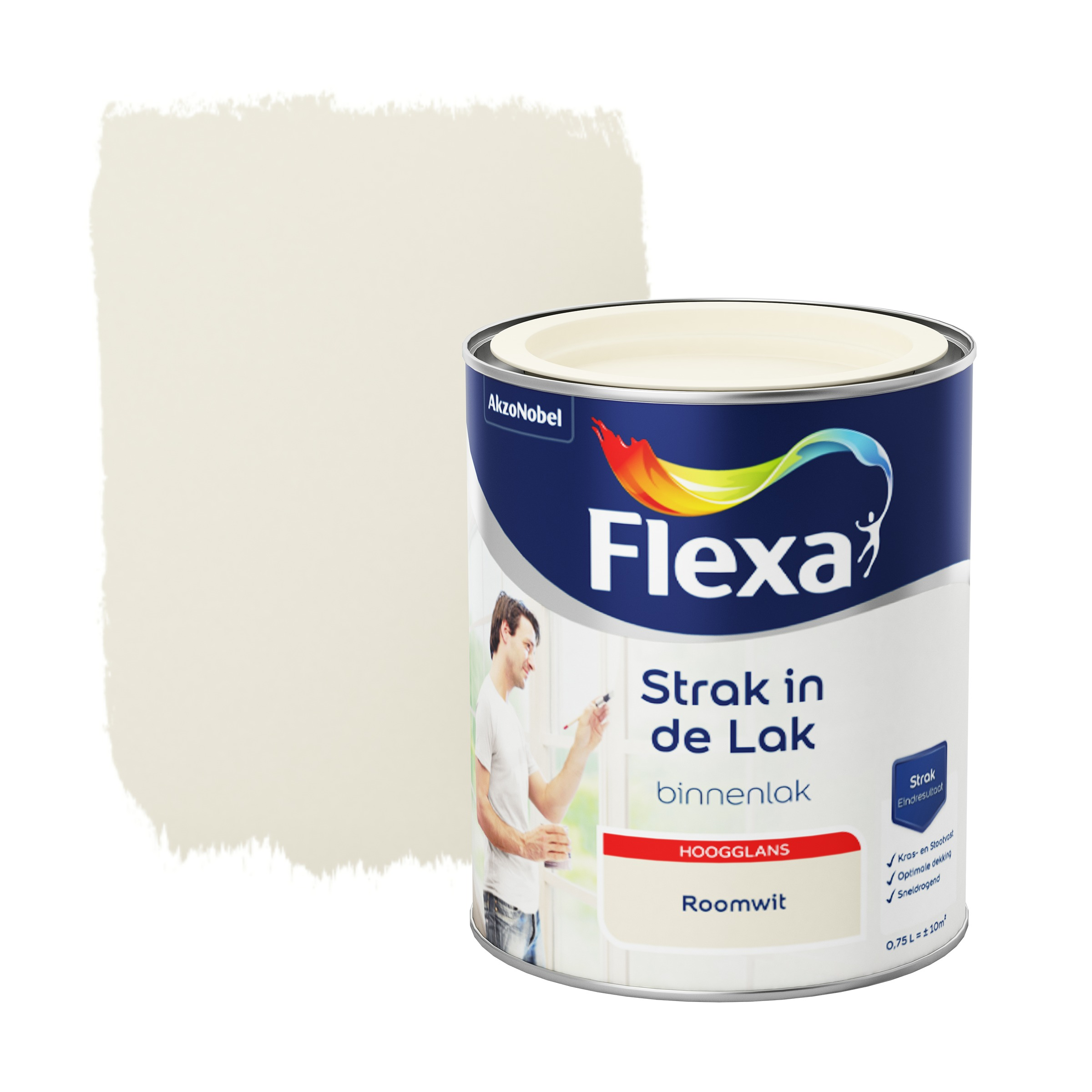 Flexa Strak In De Lak Hoogglans Roomwit 750 ML