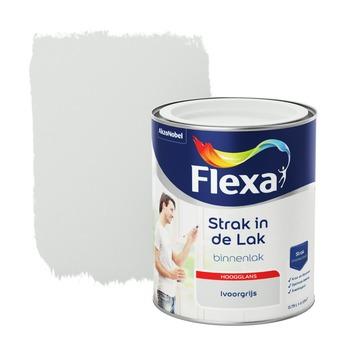 Flexa Strak in de lak voor binnen ivoorgrijs hoogglans 750 ml