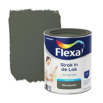 Flexa Strak in de lak voor binnen woudgroen zijdeglans 750 ml