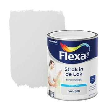 Flexa Strak in de lak voor binnen ivoorgrijs zijdeglans 750 ml