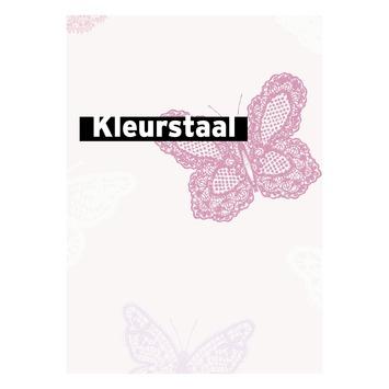 Behangstaal vliesbehang Vlinders roze 100114