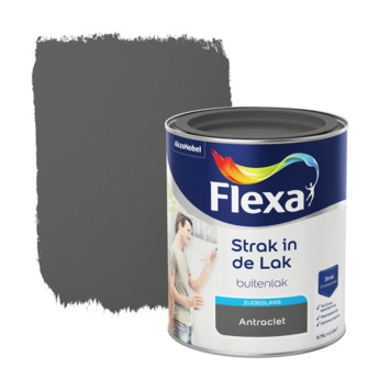 Flexa Strak in de lak antraciet zijdeglans 750 ml