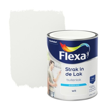 Flexa Strak in de lak wit zijdeglans 750 ml