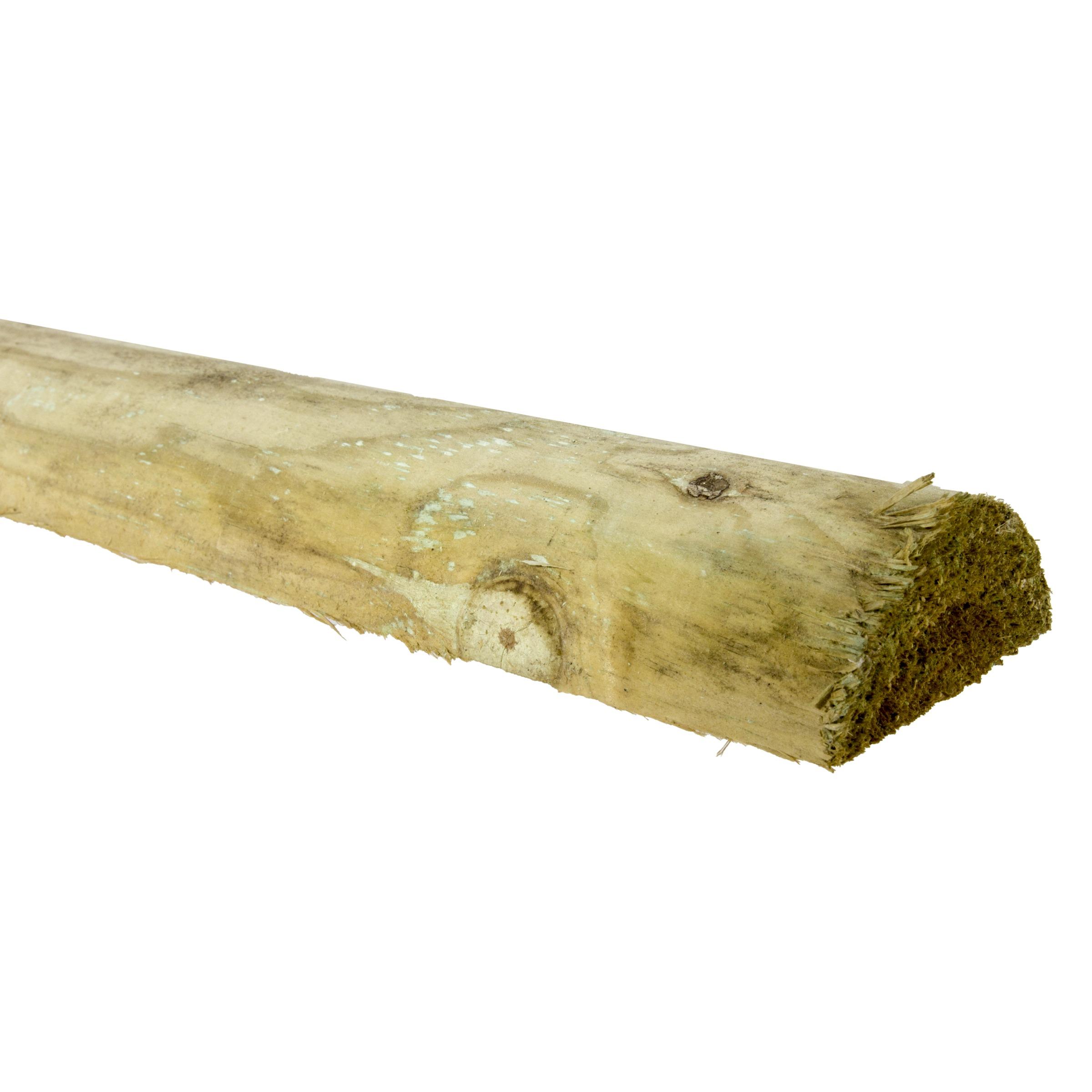 Tuinbalk regel halfrond zachthout 250x7x3,5 cm