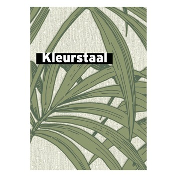 Behangstaal vliesbehang Honolulu palm glitter groen 32-969