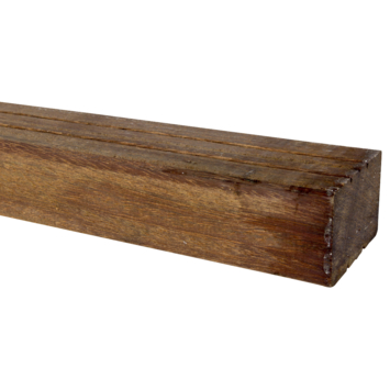 Tuinbalk hardhout ca. 4,4x6,7 cm, lengte ca. 210 cm
