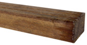 Tuinbalk hardhout 210x6,7x4,4 cm