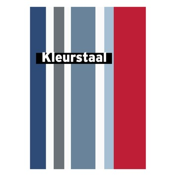 Behangstaal papierbehang Streep blauw-rood DF73999