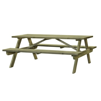 Houten Picknicktafel Gamma.Picknicktafel Exclusive Recht 180x70 Cm