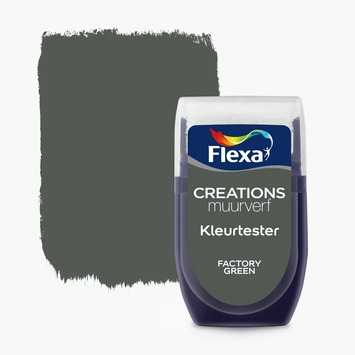 Flexa Creations muurverf Kleurtester Factory Green mat 30ml