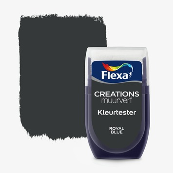 Flexa Creations muurverf Kleurtester Royal Blue mat 30ml
