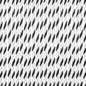 Livin' outdoor deurgordijn Rope alu rail zwart/wit 230x100cm