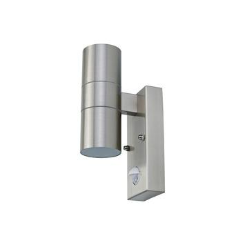 Buitenlamp Met Sensor Karwei.Gamma Buitenlamp Edmonton Rvs 2 Lichts Met Bewegingssensor