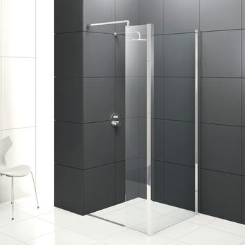 Bruynzeel Solid walk in douchewand met vaste zijwand 100 cm