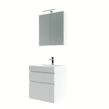 Bruynzeel Monta badmeubelset met spiegelkast hoogglans wit 60 cm
