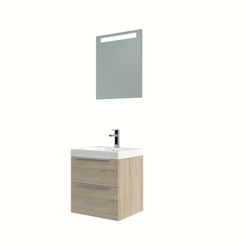 Bruynzeel Muza badmeubelset met spiegel eiken grijs 50 cm