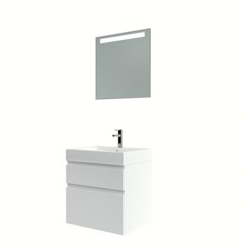 Bruynzeel Monta badmeubelset met spiegel hoogglans wit 60 cm