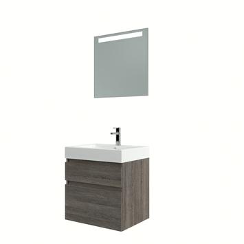 Bruynzeel Monta badmeubelset met spiegel wenge 60 cm