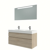 Bruynzeel Monta badmeubelset met spiegel grijs eiken 120 cm