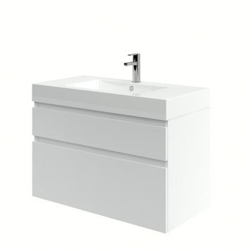 Monta badkamermeubel met wastafel hoogglans wit 90 cm