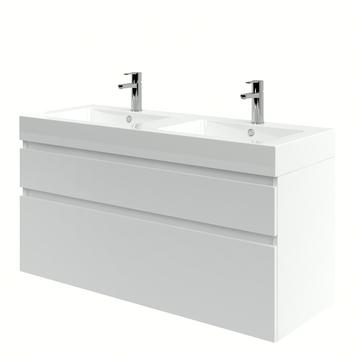 Monta badkamermeubel met wastafel hoogglans wit 120 cm