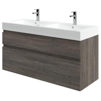 Monta badkamermeubel met wastafel wengé 120 cm