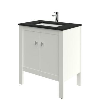 Bruynzeel Heros badkamermeubel 80 cm staand met rechthoekige wastafel oud wit