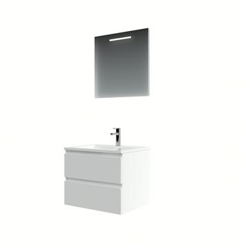 Bruynzeel Cadiza badmeubelset spiegel 60cm mat wit