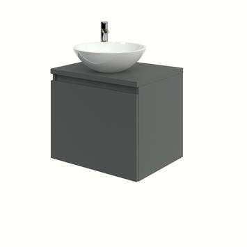 Bruynzeel Nerano badkamermeubelset 60 cm grafiet met opbouw lavabo