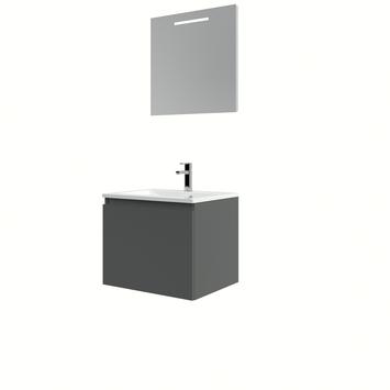 Bruynzeel Nerano badmeubelset wastafel spiegel 60 grafiet