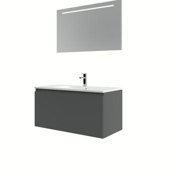 Bruynzeel Nerano badmeubelset wastafel spiegel 100 grafiet