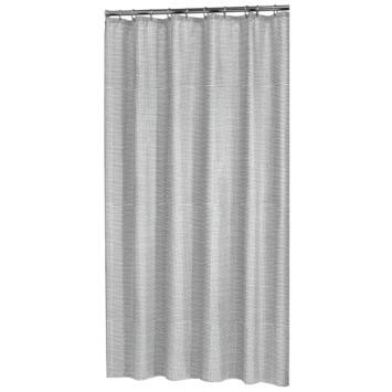 Sealskin Douchegordijn Wave Polyester 180x200 cm Zwart