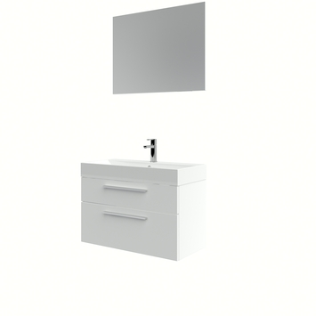 Bruynzeel badmeubelset Zelda met spiegel wit 80x38x56 cm