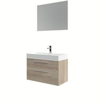 Bruynzeel badmeubelset Zelda met spiegel licht eiken 80x38x56 cm