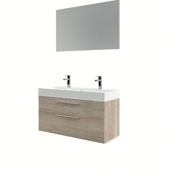 Bruynzeel badmeubelset Zelda met spiegel licht eiken 100x38x56 cm