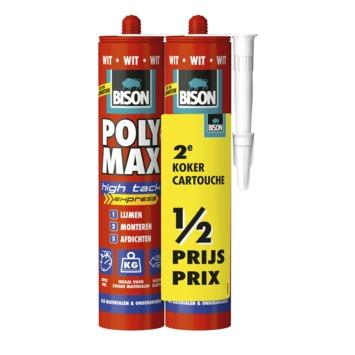 Bison Polymax high tack express wit 2 stuks
