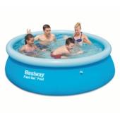 Zwembad blauw 245x60 cm inclusief hoes
