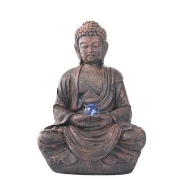 Boeddhabeeld Met Fontein.Fontein Boeddha Brons