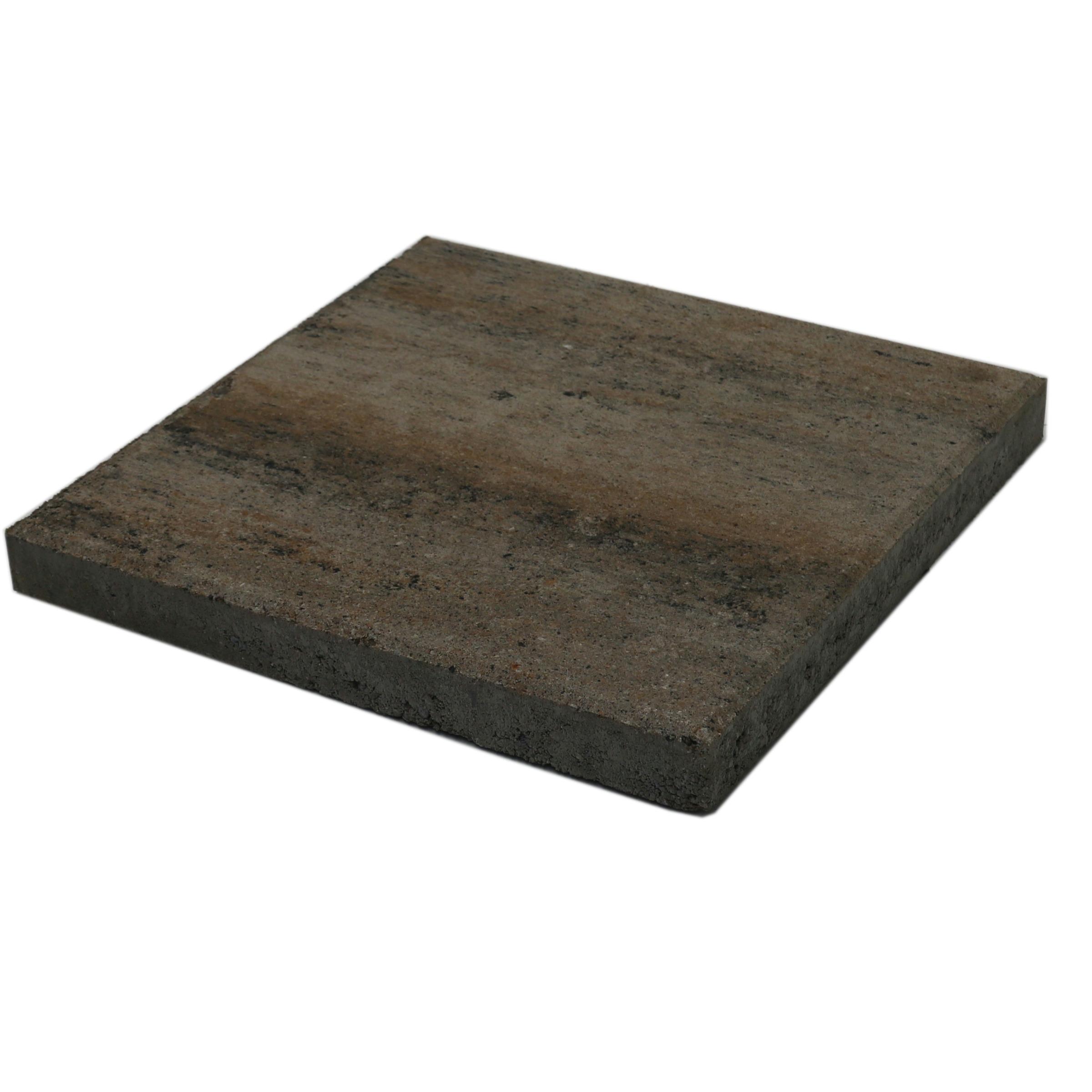 Terrastegel Beton Quadro Schelp Grijs/Bruin 40x40 cm - 108 Tegels - 17,28 m2