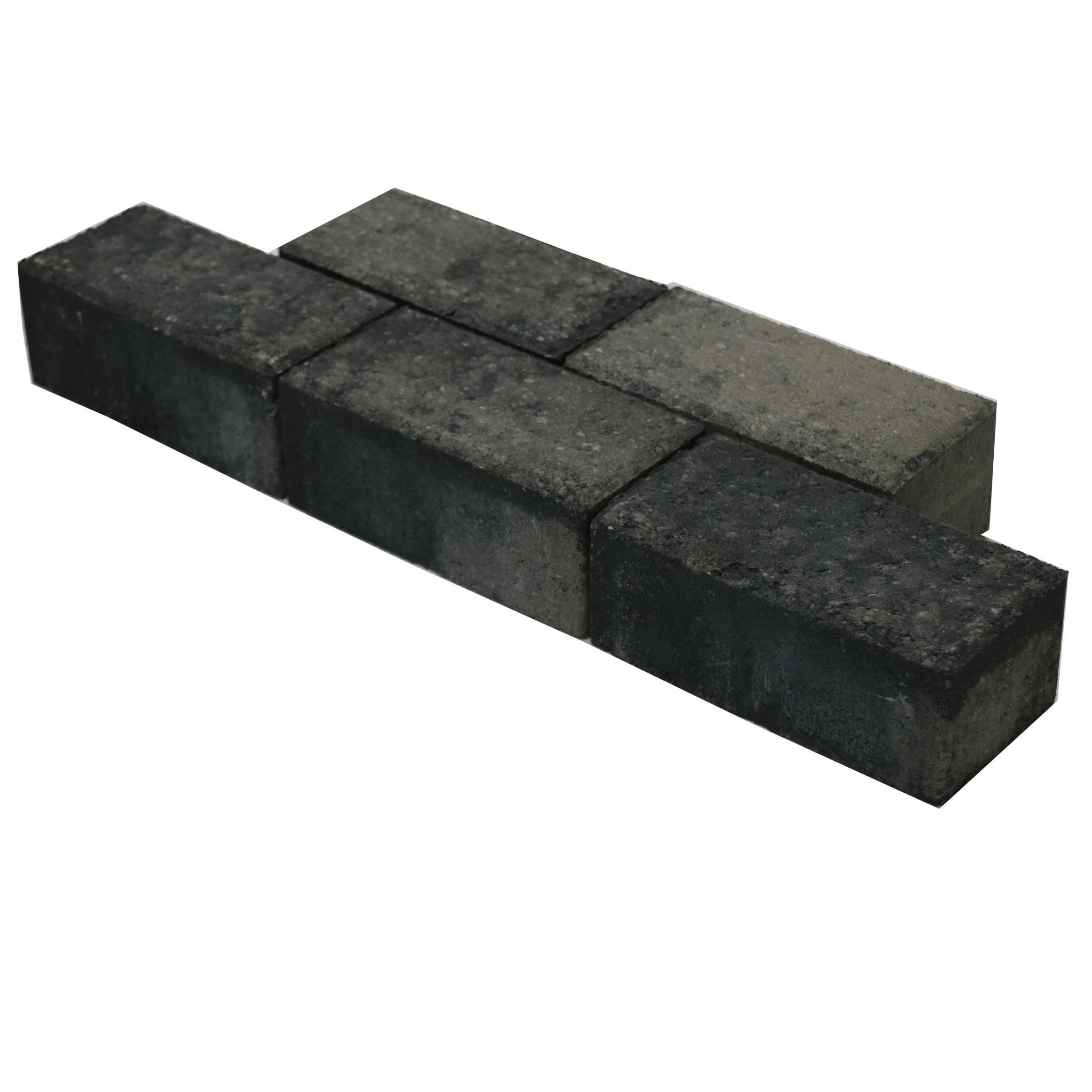 Klinker Beton Facet Grijs/Zwart 21x10,5x8 cm - 36 Klinkers - 0,75 m2
