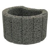 Bloembak beton antraciet 35x28x20 cm per pallet